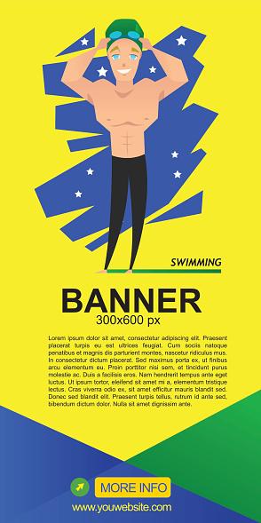 swimming web banner design