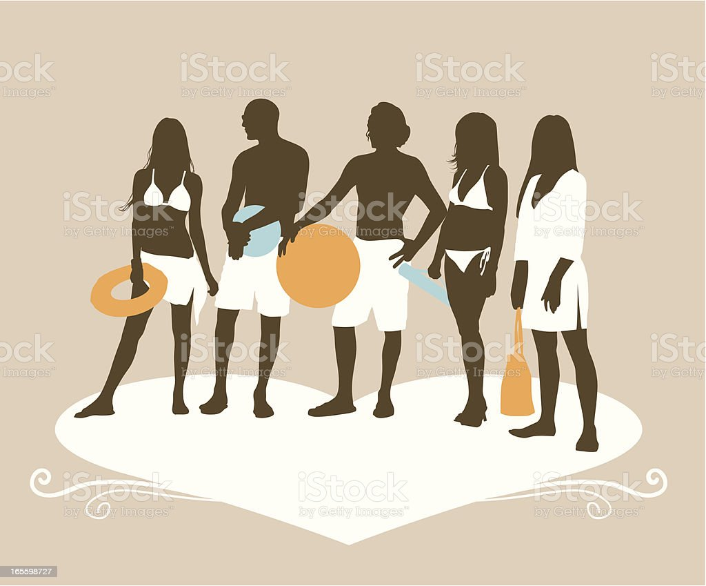 swimsuit models royalty-free stock vector art
