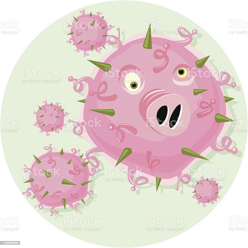 Swine Flu H1N1 royalty-free stock vector art
