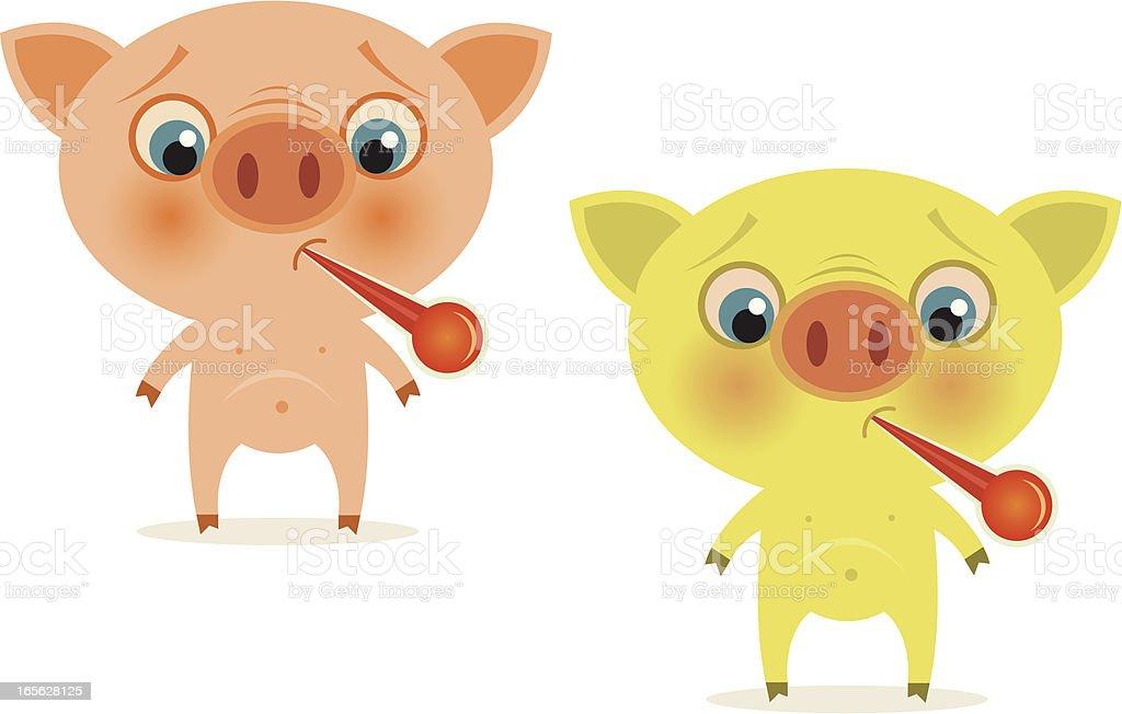 Swine Flu - H1N1 virus vector art illustration