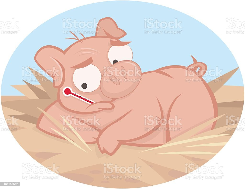 Swine Flu royalty-free stock vector art