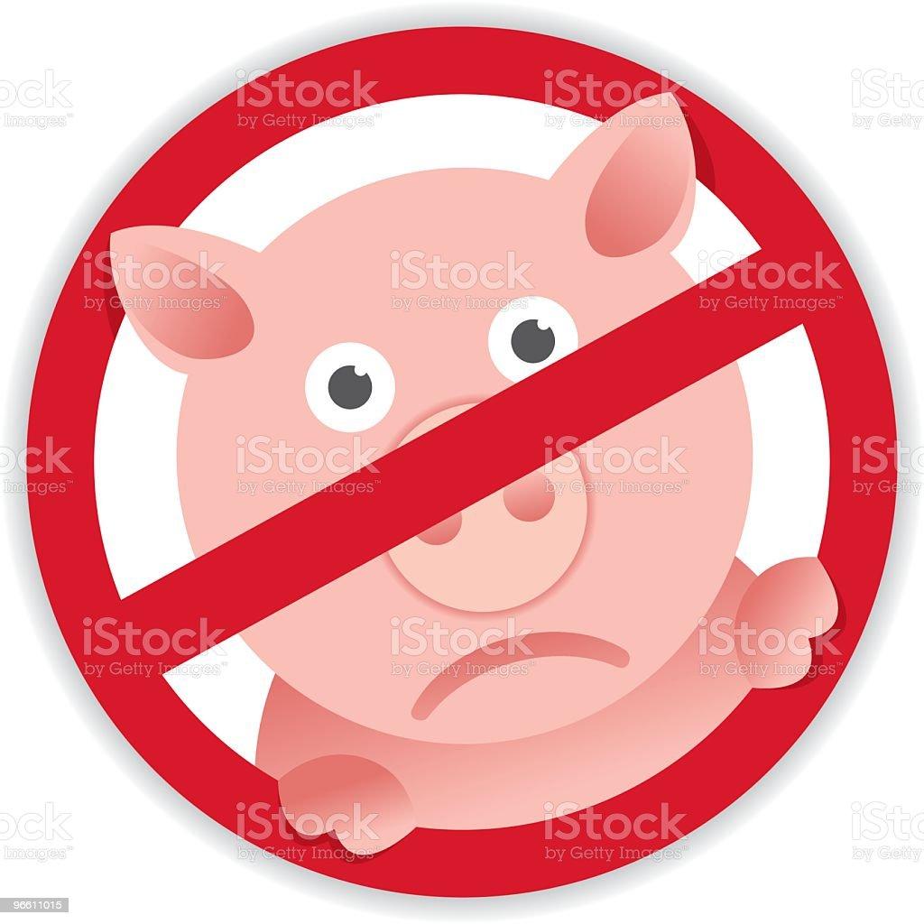 Swine Flu - Royalty-free Cirkel vectorkunst