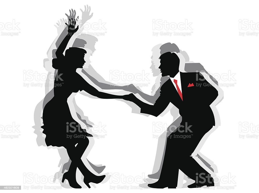 Swing Dance Couple Stock Illustration - Download Image Now ...