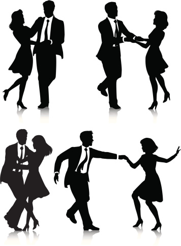 Swing Dancer Silhouettes