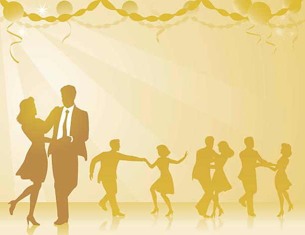 swing tancerzy tle - sala balowa stock illustrations