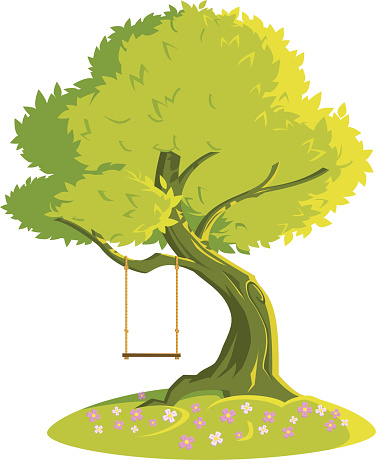 Swing on a tree. Качели на дереве.