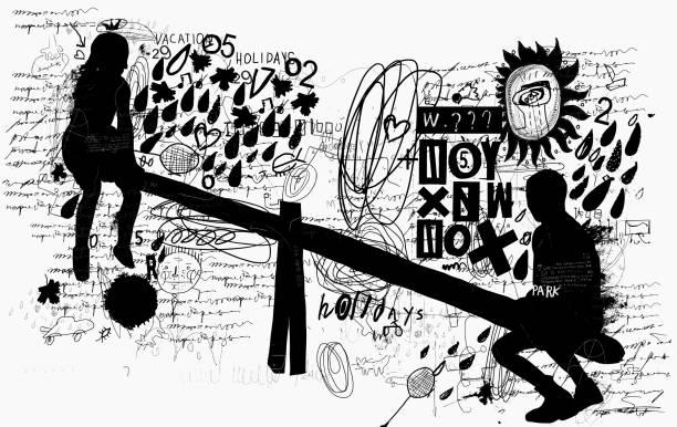 Swing vector art illustration