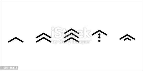 istock swipe up icon vector button. scroll arrow pointing up. drag to read learn more. isolated on white background. internet graphic concept. modern shape line. 1251188373