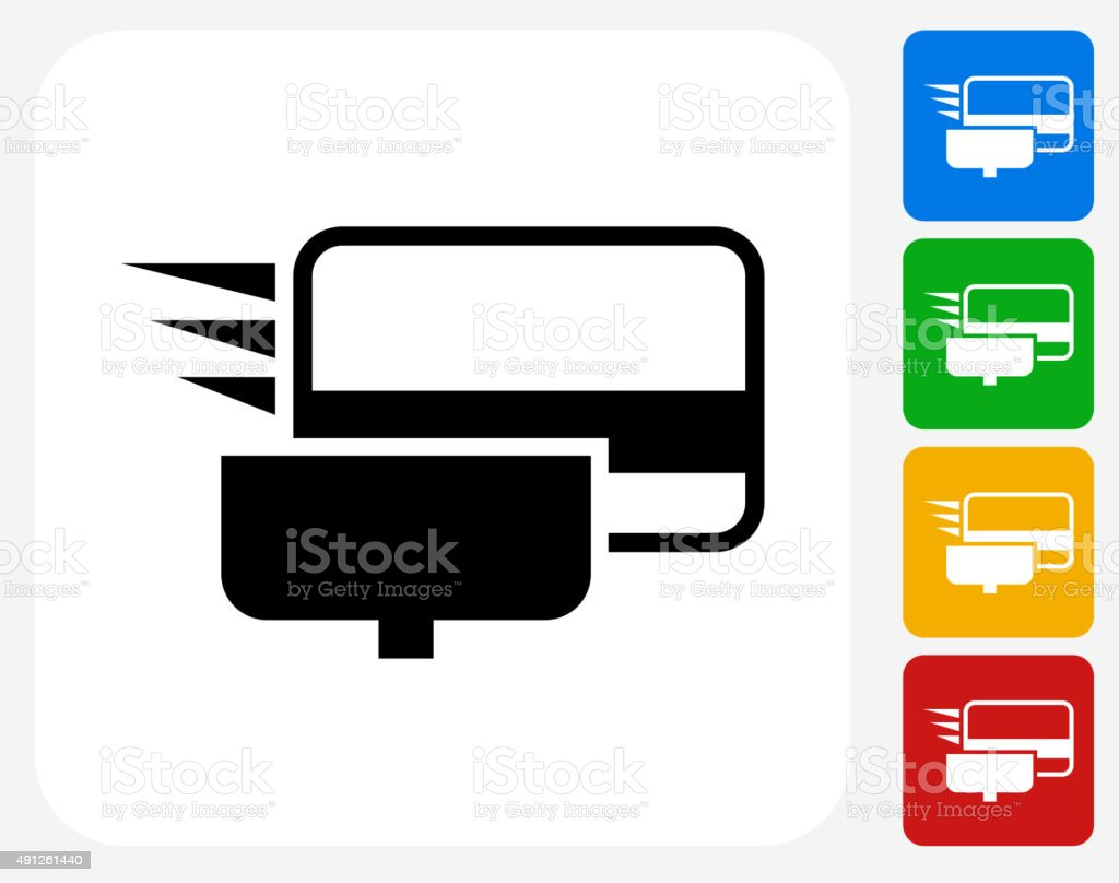 Swiping Credit Card Icon Flat Graphic Design Stock Vector Art & More ...