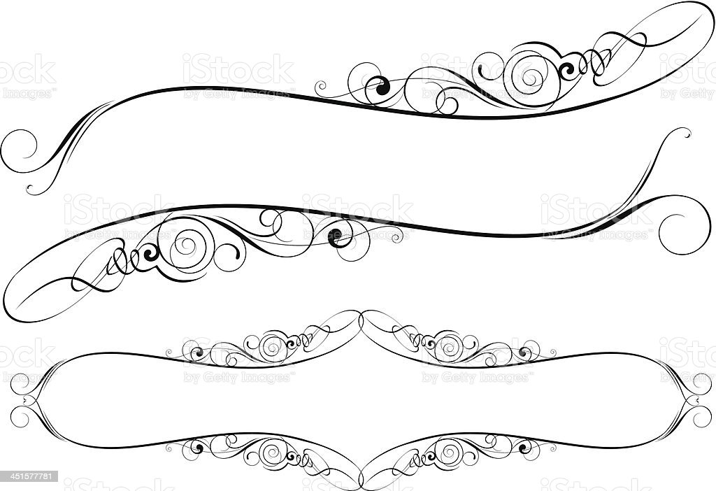 Swirl And Label Frame Stock Vector Art & More Images of Abstract ...
