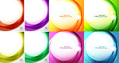 Swirl and wave background set. Vector mega collection