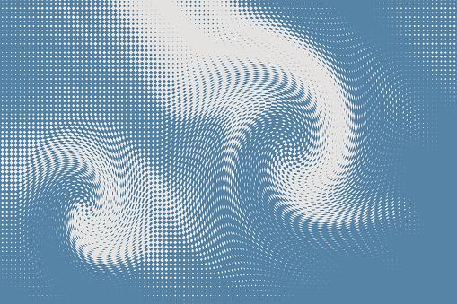 Swirl background Halftone Pattern