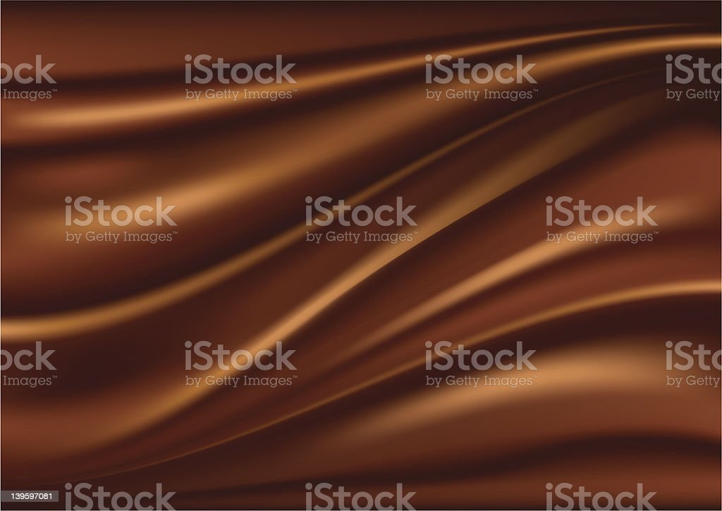 A swirl chocolate abstract background vector art illustration