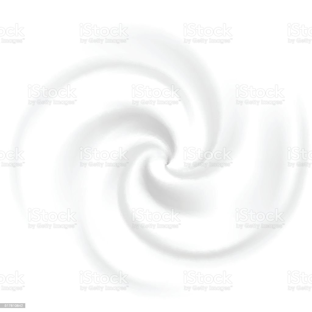 Swirl cream vector art illustration