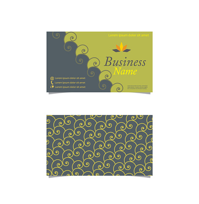 Swirl decorated business card