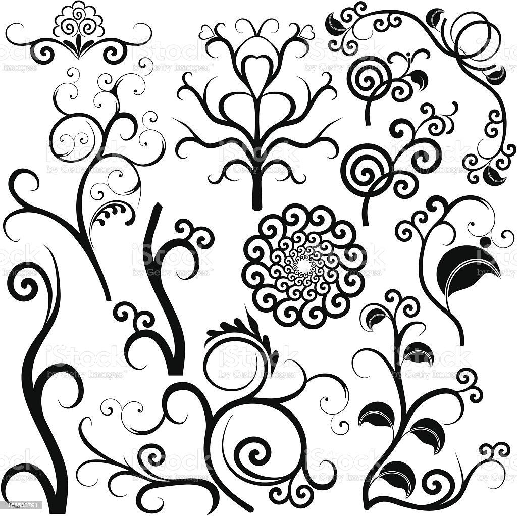 Swirl design elements royalty-free stock vector art