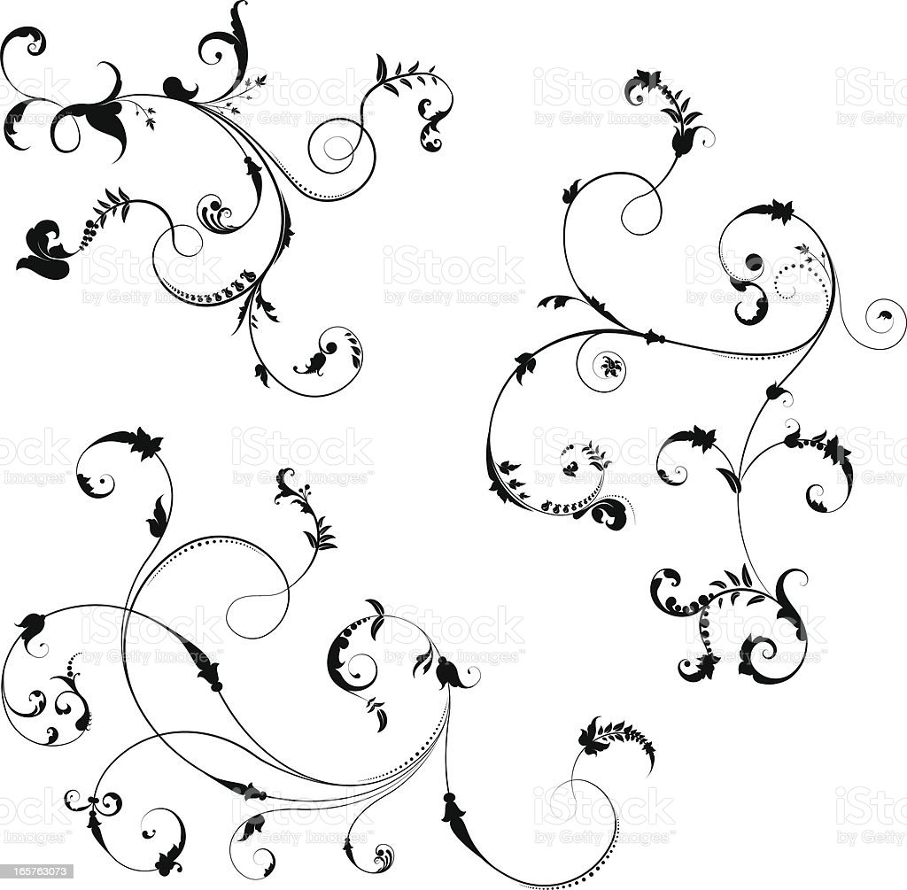 Swirl design elements. royalty-free swirl design elements stock vector art & more images of antique