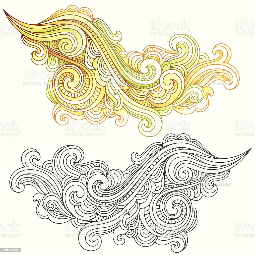 Swirl Elements royalty-free swirl elements stock vector art & more images of black color