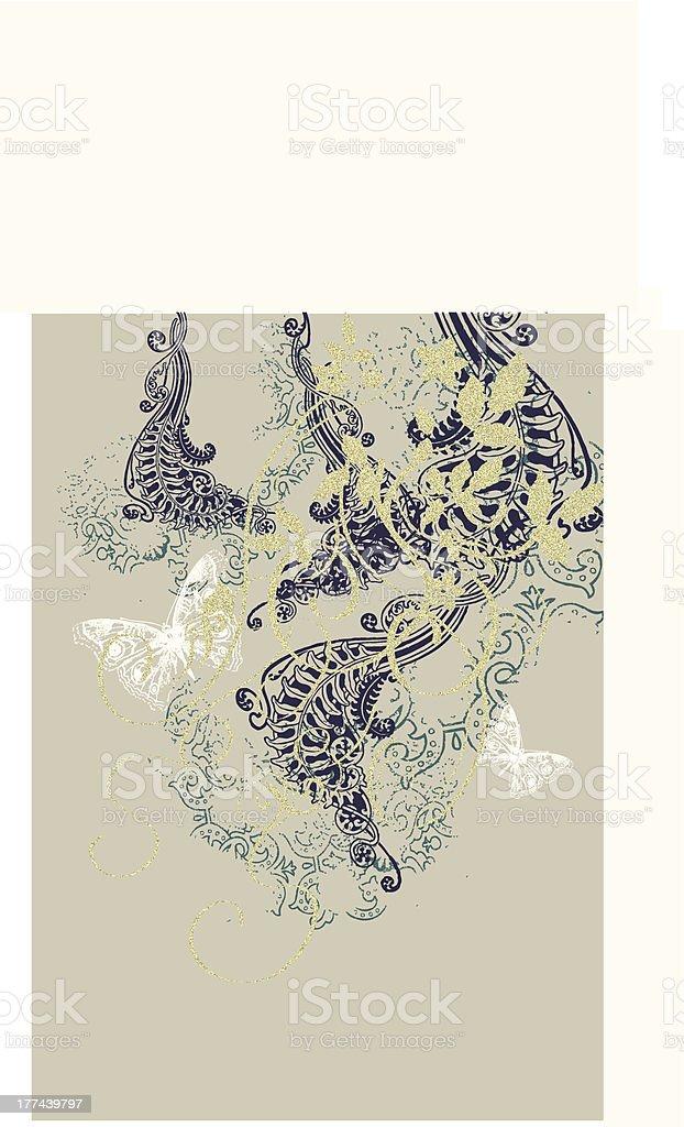 Swirl Flowers royalty-free stock vector art