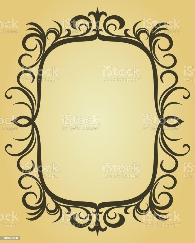 Swirl frame royalty-free stock vector art