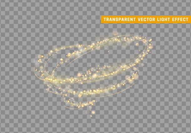 """эффект """"золотой свет"""" вихря. золотая пыль stardust блеск. - закрученный stock illustrations"""