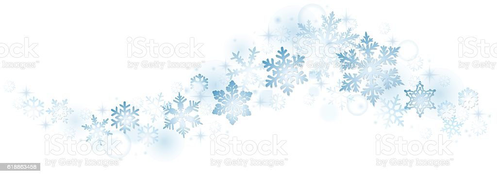 Swirl of blue snowflakes - Illustration vectorielle