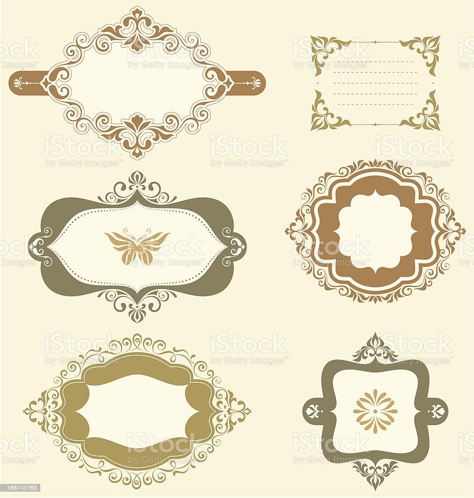 Swirl Ornate Frames royalty-free swirl ornate frames stock vector art & more images of backgrounds