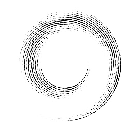 Swirl pattern spiral, connected arrows.