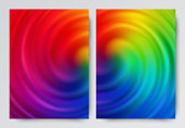 istock Swirling abstract multicolored background design. A set of backgrounds for your creativity. 1185514604