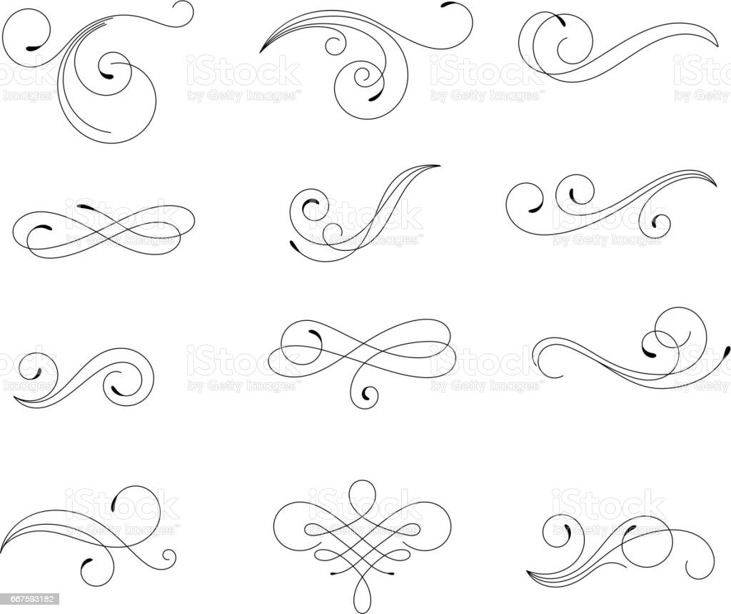 Swirling floral elements
