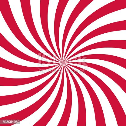 istock Swirling radial pattern background. Vector illustration 598054982