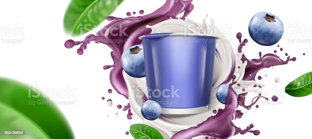 Swirling yogurt with container royalty-free swirling yogurt with container stock vector art & more images of blueberry
