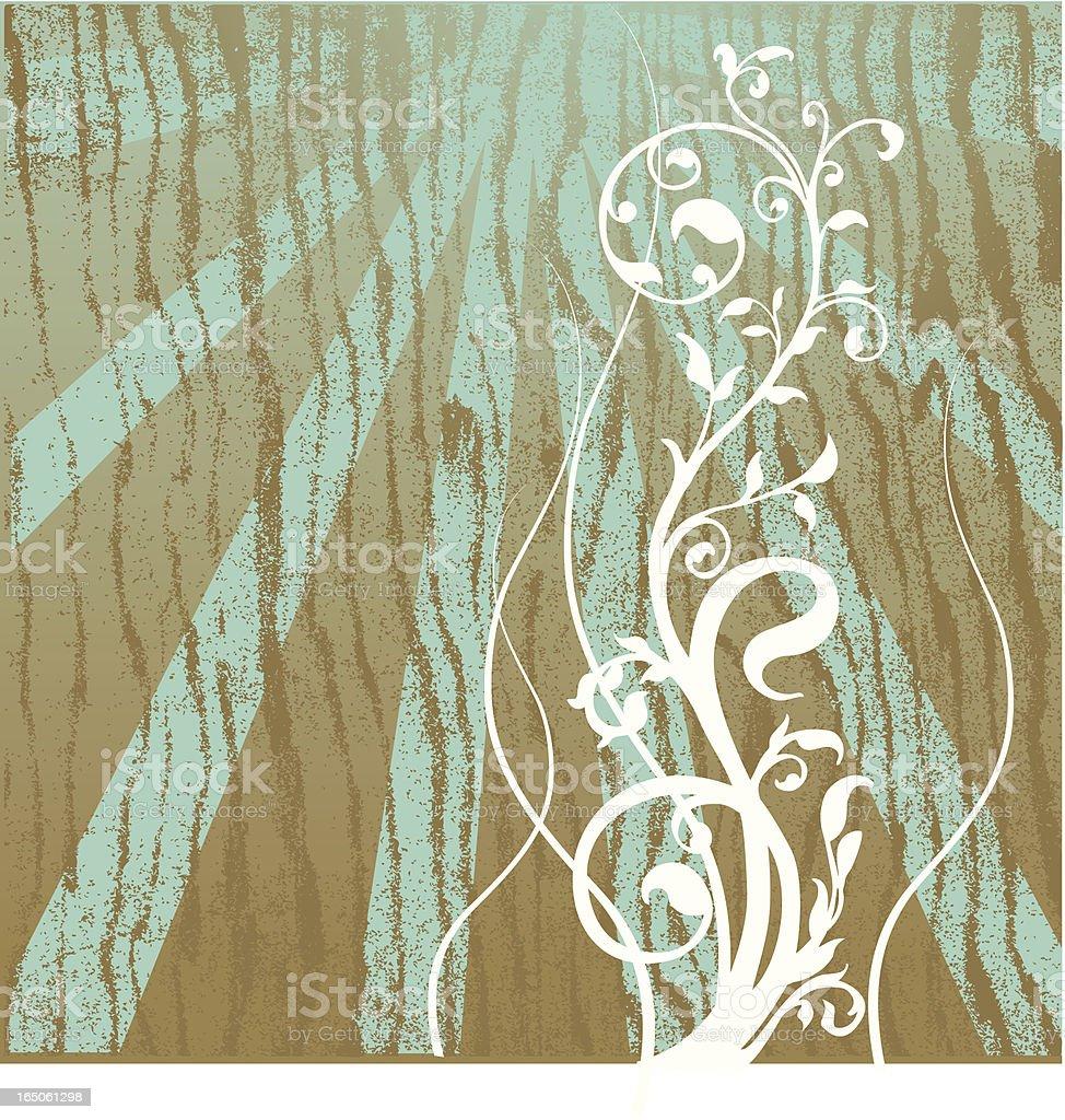Swirls and foliage royalty-free stock vector art