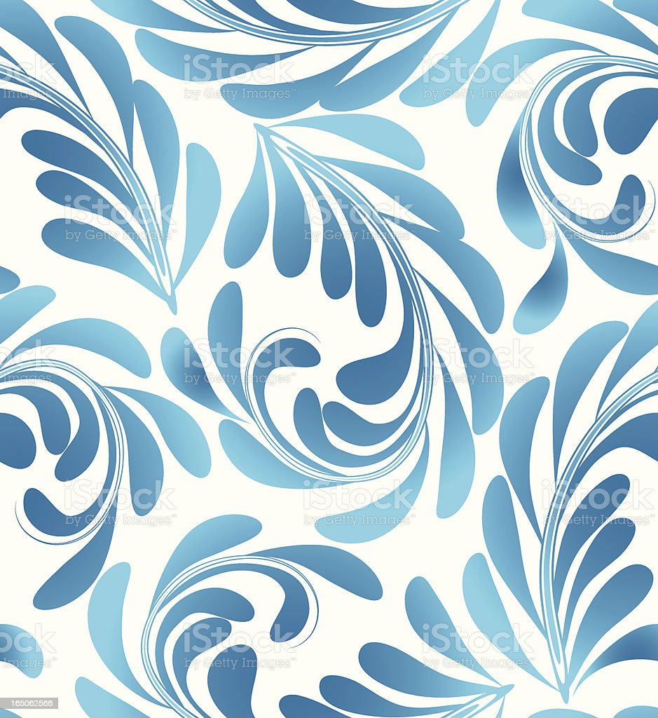 Swirls and leaves royalty-free stock vector art