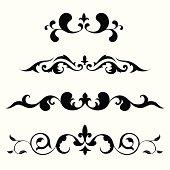 Swirls and decorative elements. vector.