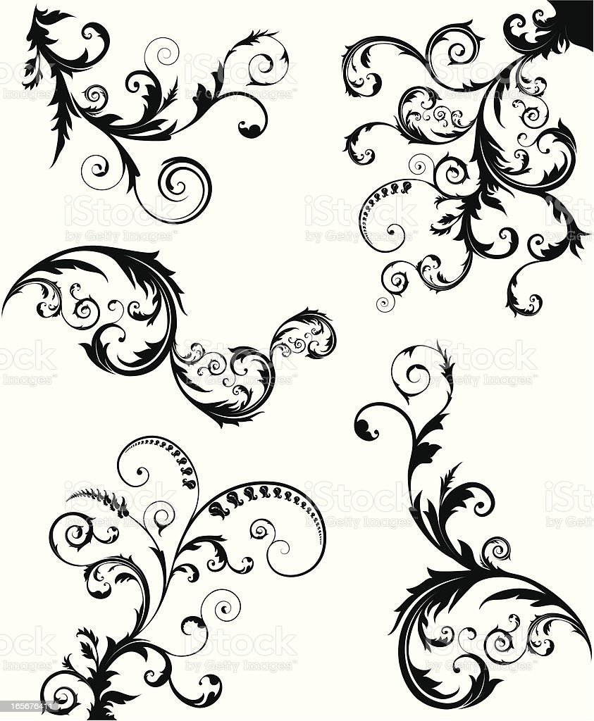 Swirls royalty-free swirls stock vector art & more images of angle