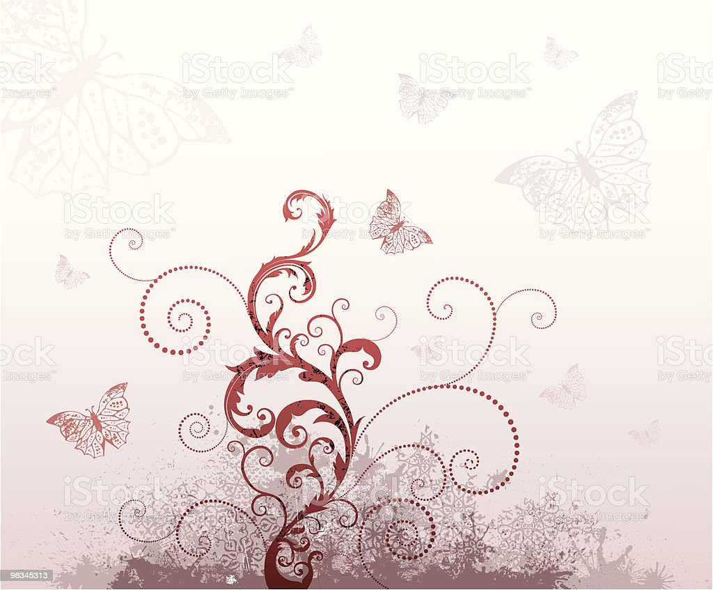 Swirls with butterflies royalty-free swirls with butterflies stock vector art & more images of backgrounds