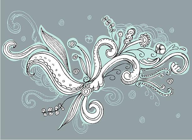 swirly doodle design-Elemente – Vektorgrafik