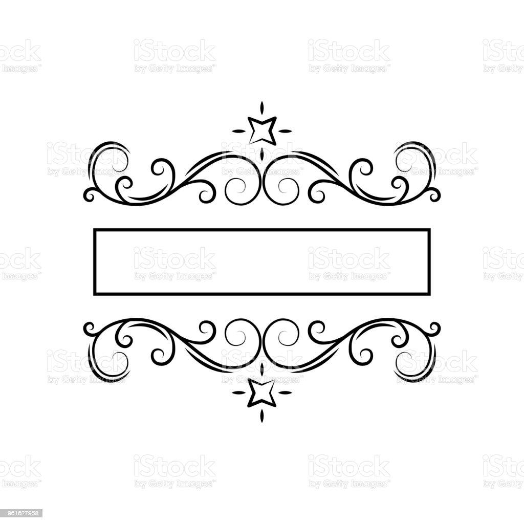 swirly filigree frame decor ornate page decoration flourish design