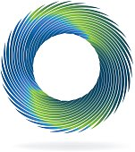Swirly blue wave vector image icon icon template