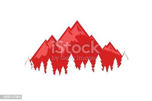 Swiss Alps vector illustration, EPS 10