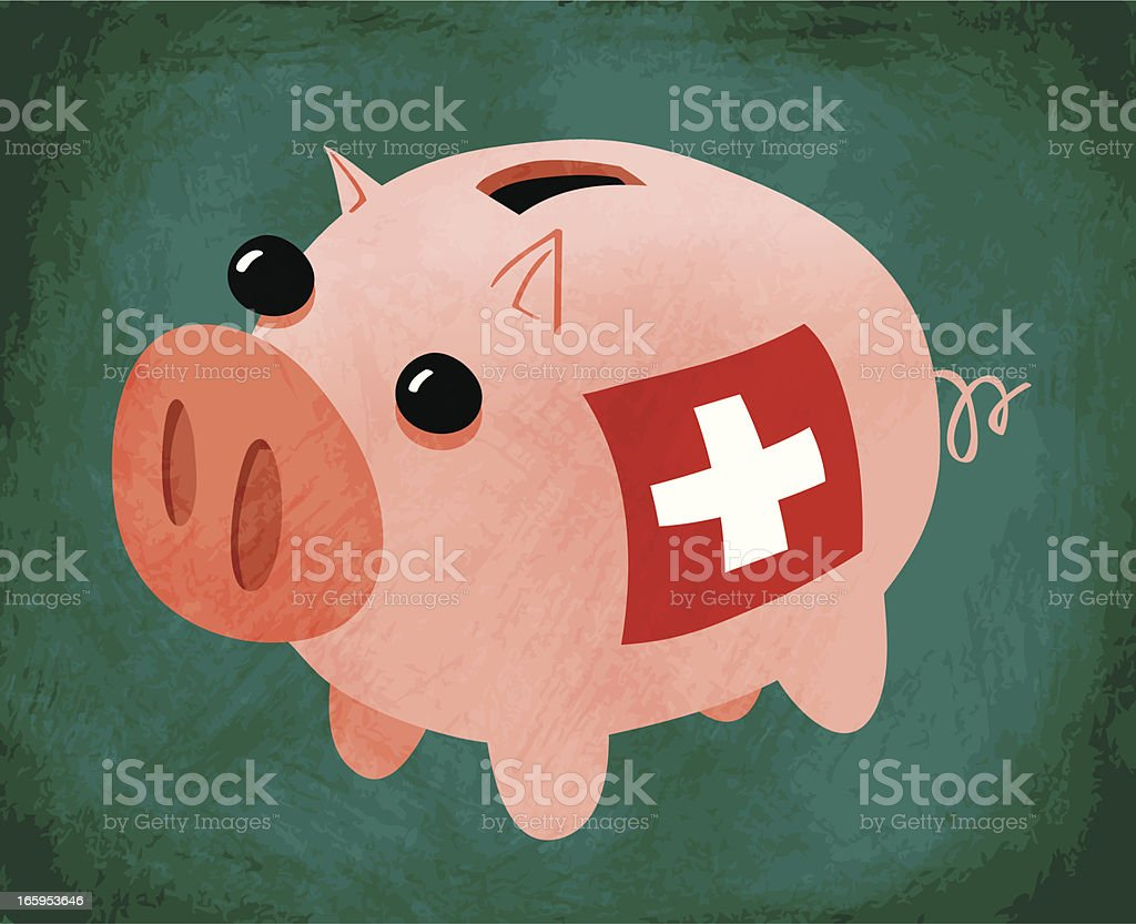 Swiss Bank vector art illustration