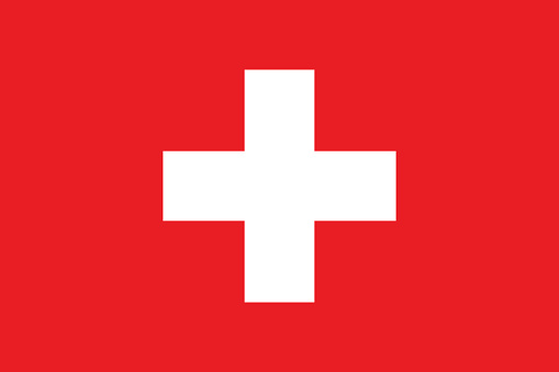 Swiss flag, flat layout, vector illustration