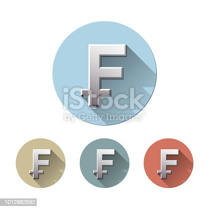 Swiss Franc Currency Symbol Stock Vector Art More Images Of Bank