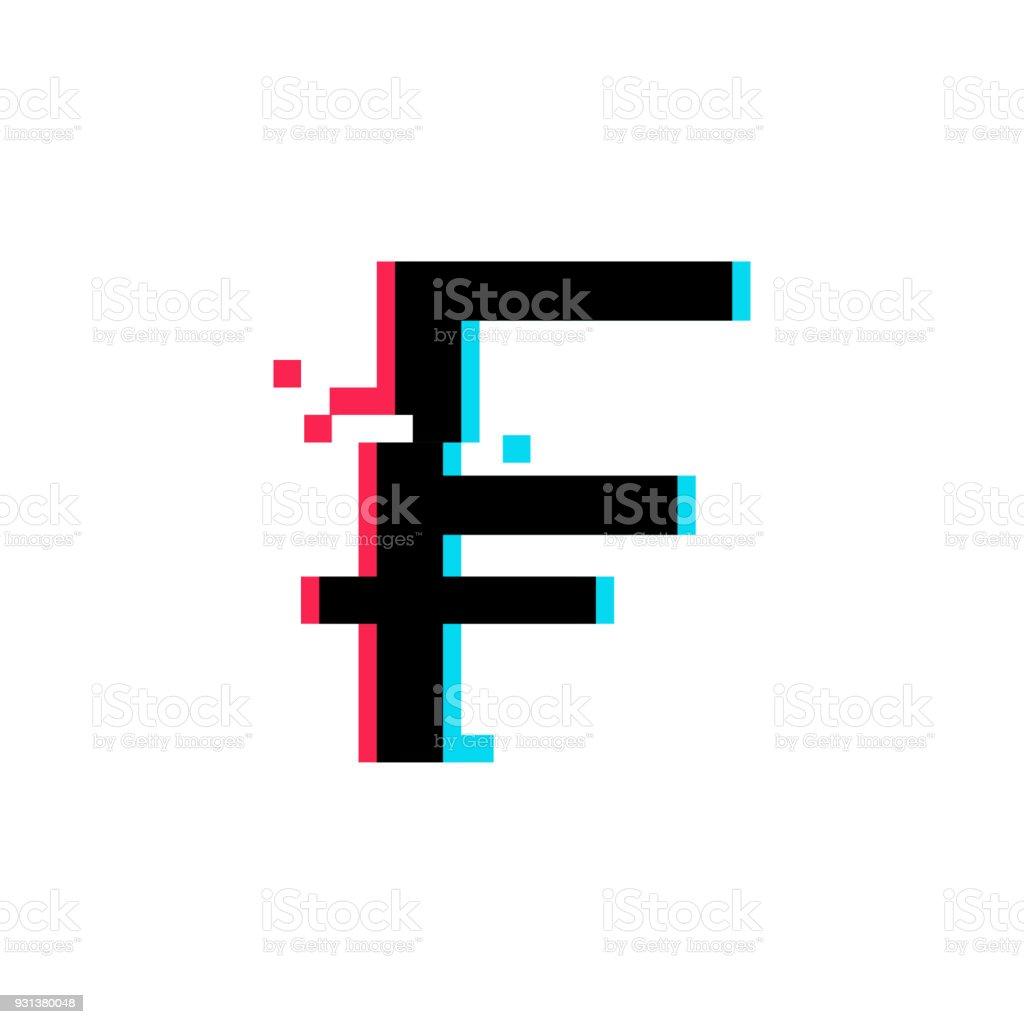 Swiss frank vector icon vector art illustration