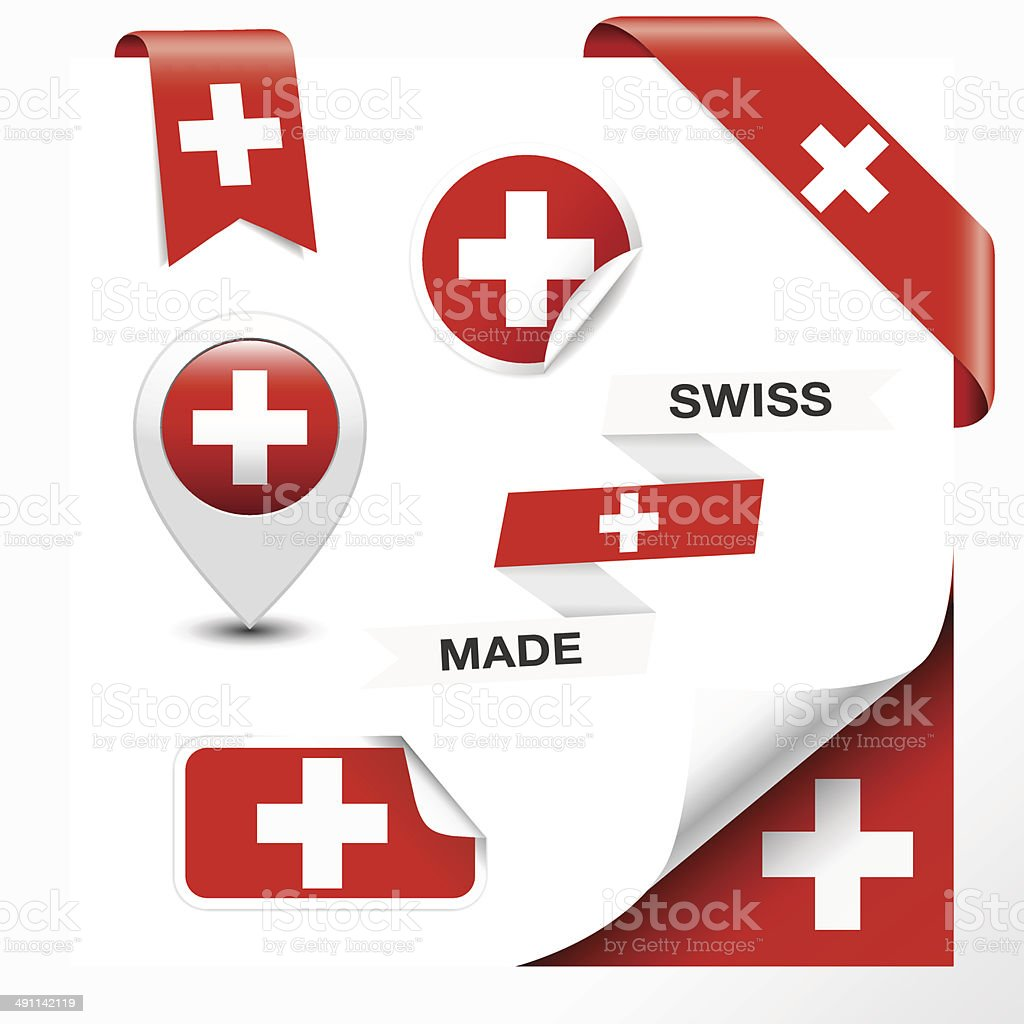 Swiss Made Symbol Collection vector art illustration