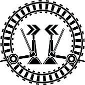Switch arrows railway