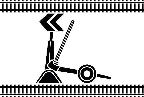 Switch arrows railway Switch arrows railway stencil switchblade stock illustrations