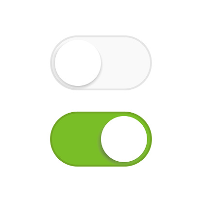 Switch button on and off icon. Isolated vector