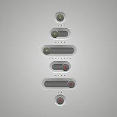 Switch buttons set, Vector Web Slider